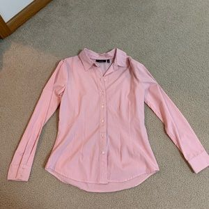Long Sleeve Button Down Shirt - Pink/White Stripe